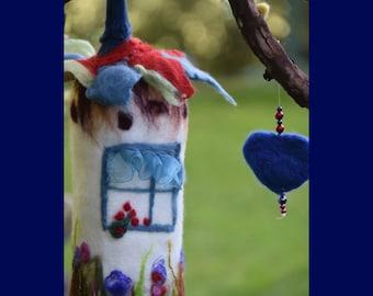 Felted Fairy House - Magic Fairy Home - Fairy Decoration - Felted Fairy House