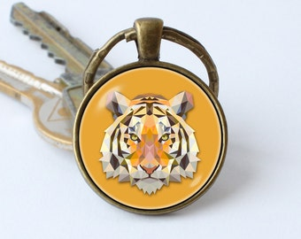 Tiger keychain Tiger keyring Tiger jewelry Tiger pendant Tiger art Animal key chain Tiger key chain Animal jewelry Jungle Zoo Wild animals