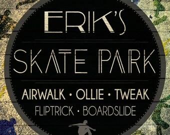 Custom Skate Park Sign Digital Download