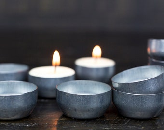 Reusable Tealight Tins - Refillable and made from Recycled Steel