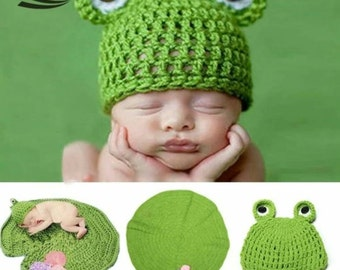 Handmade knitted baby costume outfits