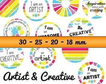 44 digital image artist & CREATIVE for cabochons