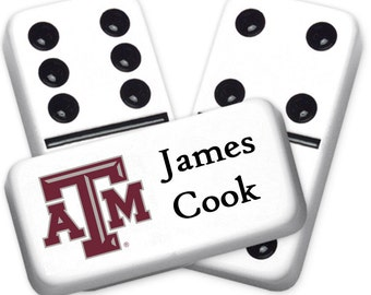 Texas A&M Custom Personalized Licensed Dominoes Set