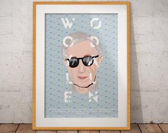 Poster - Woody Allen - Portrait