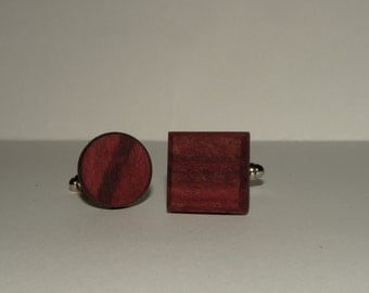 Cufflinks- Purpleheart