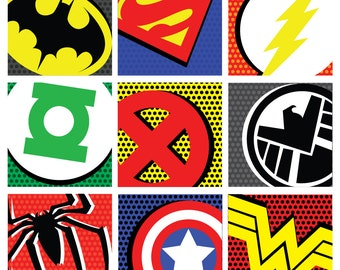 Superhero Pop Art! Superhero Decor, Superhero Pop Art Poster