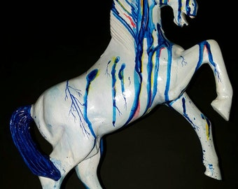 Horse (wood) 40 cm painted with Arcyl
