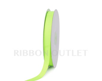 "5/8"" Neon Green  Grosgrain Ribbon 50 Yards Per Roll"