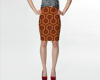 overlook hotel - the shining - fitted printed skirt