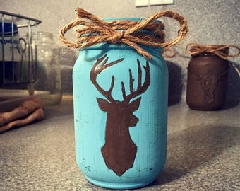 Painted deer jar