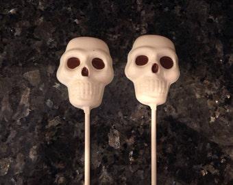 Halloween Chocolate Skull Lollipops