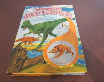 Mammoth Book of Dinosaurs, vintage Dinosaur book, childrens book
