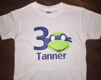 Ninja turtle kids shirt, borthday shirt, kid shirt, ninja turtle shirt