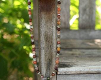 Personalized Blessingway Necklace - Rutilated Quartz