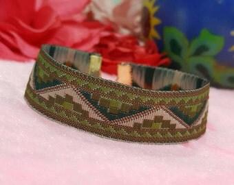 Salma - Khaki Multi Tribal Bracelet
