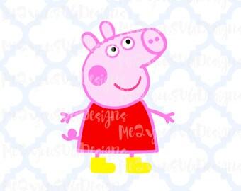 Peppa Pig SVG,EPS,PNG,Studio