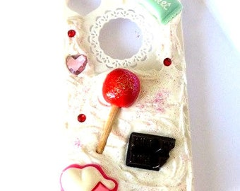 Hull portable fancy Decoden Iphone 4 / 4s - Gourmande -.