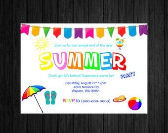 Summer Fun Invitation