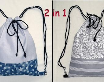 03 - turn bag backpack handbag Citybag * 2 in 1 * reversible