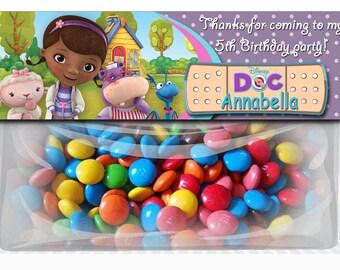 Doc McStuffins Birthday Goodie Bag Toppers, Doc McStuffins Party Favors, DIY Printables, Doc McStuffins Party Supplies