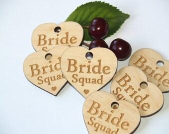 Bride Squad favors, Bride Squad, Bride tribe, Bachelorette party favors, Bridal shower, Bachelorette favors, Bridal party favors, wood tags