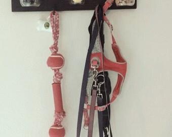 Rustic treat/leash/toy rack!