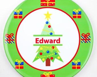 Personalised Christmas Tree Plate