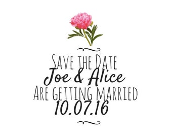 Personalised Save The Date DOWNLOADABLE