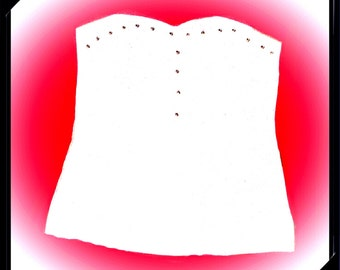 Bustier-style top  Styled and made by Nancy Barbieri in white stretch cotton Without slats Made in Italy Handmade Arrives in gift box