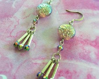 Lavender Iridescent Earrings