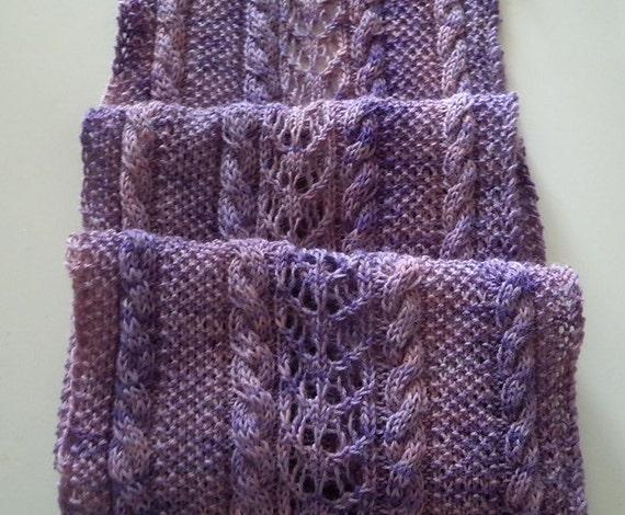 Knitting Rose Yarns : Scarf knitting pattern alpine roses lace