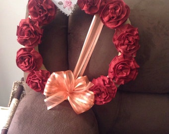 Love Red rose wreath
