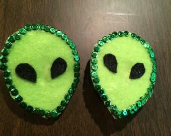 Alien Face Burlesque Pasties