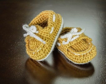 Sperry Baby Bootie in Yellow size 3-6 months