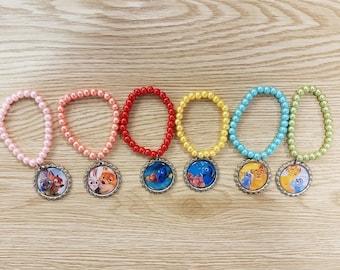 10 Colorful Bracelets Favors. Lion Guard - Zootopia - Finding Dory