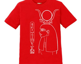Hathor Kids Shirt - personalized with your name in hieroglyphs