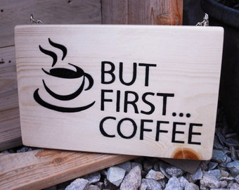 Coffee - Sign - Handmade - Wooden - Wallhanging