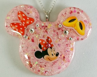 Minnie Mouse Large Pendant, Minnie Mouse Necklace, Minnie Mouse, Disney Necklace, Disney Inspired Jewelry, Minnie Mouse Pendant