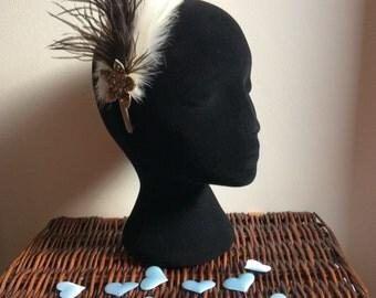 Feathers & Vintage - #1 Hairband