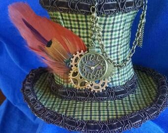 Orange Feather Top Hat