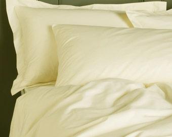 Natural sateen (100% cotton), Vanilla color duvet cover + pillow cases