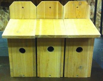 BLUEBIRD CEDAR BIRDHOUSE handmade 5.8 cedar