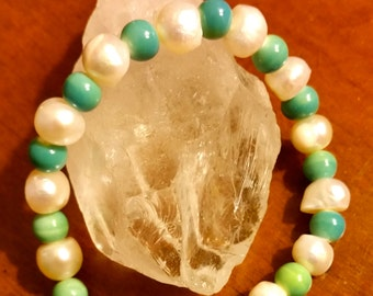 Freshwater pearls and beautiful glass