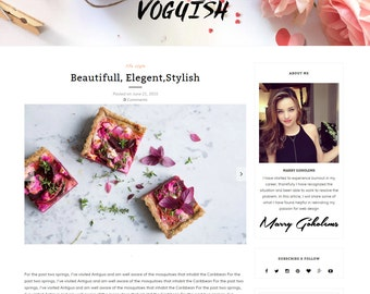 Voguish Wordpress Theme for Personal and Fashion Blogs - Feminine wordpress theme-Minimalist And Responsive WordPress Theme