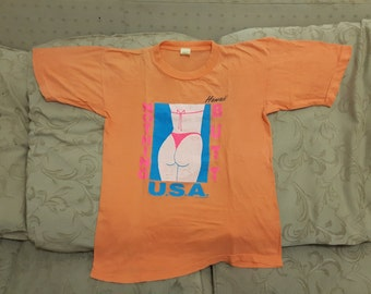 vintage hawaii nothing butt usa t shirts small size