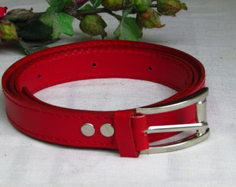 Red leather belt, women leather belt, Women's belt, 2.5cm width belt, Leather women belt, Belt for women, Women black Belt, Lemon women Belt