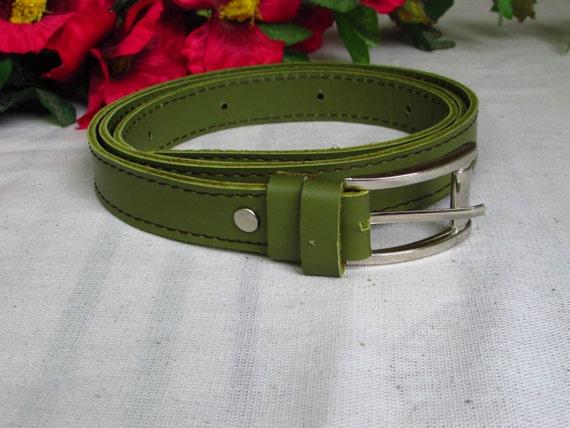 Lemon leather belt, 2.5cm width belt, Women's leather belt, Men leather belt, Belt for women, Women Red Belt, Black women Belt, Purple Belt