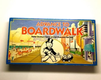 "Board Game ""Advance to Boardwalk"" Parker Brothers Game 1985"