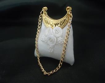 Bridal purse 1/12th scale.