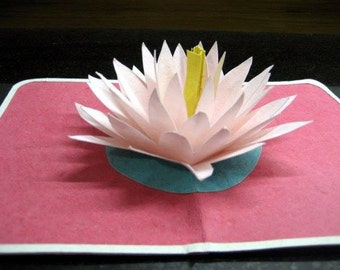 Lotus pop-up card